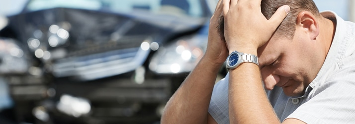 man in auto accident